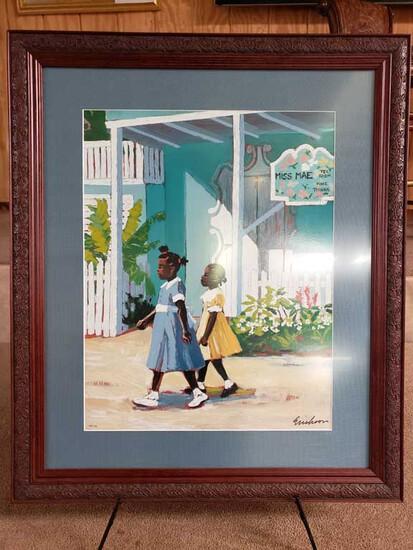 "Framed ""Miss Mae's Tea Room"" by Shari Erickson 108/750"