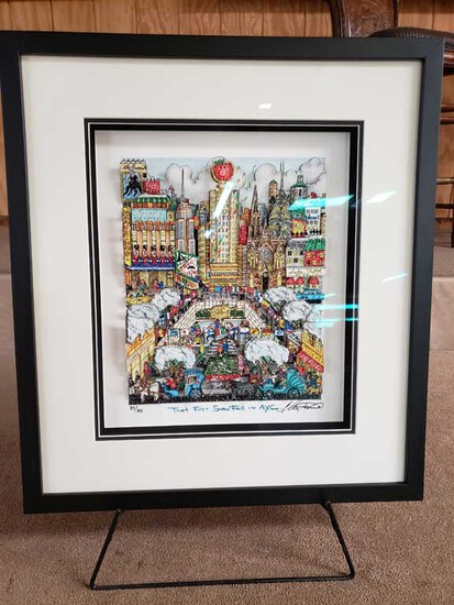 """That First Snowfall on NYC"" Pop 3-D Art by Charles Fazzino 85/395"