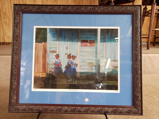 "Framed ""After School"" by Jonathan Guy-Gladding (JAG) Artist Proof with COA"