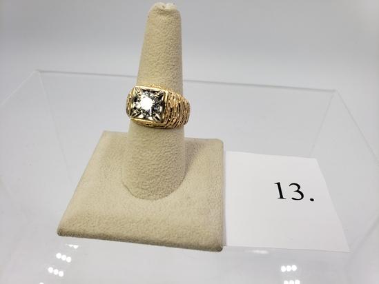 14KT YELLOW GOLD 1.50CT ROUND CUT DIAMOND RING