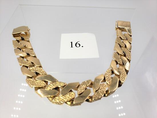 14KT YELLOW GOLD LINK BRACELET 145.4 GRAMS OF GOLD