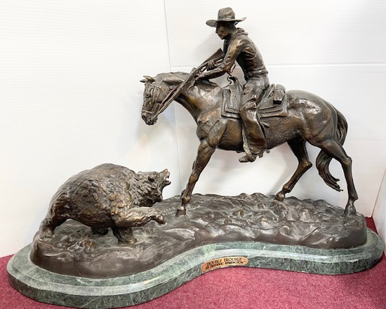 """""""DOUBLE TROUBLE"""" BY FREDERIC REMINGTON"""