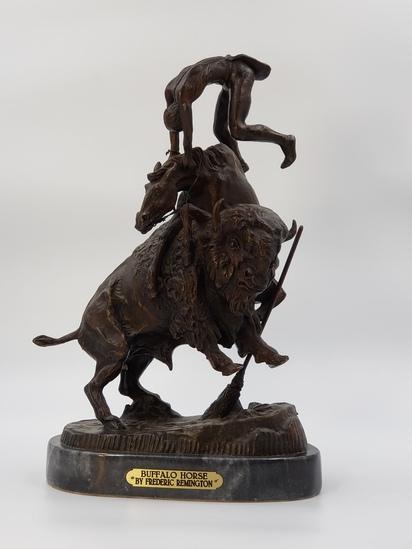 """BUFFALO HORSE"" BY FREDERIC REMINGTON"