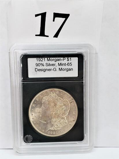 1921 MORGAN -P SILVER DOLLAR