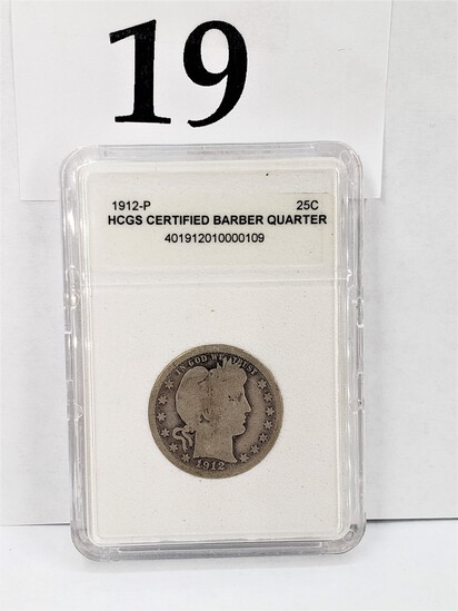 1912-P HCGS CERTIFIED BARBER QUARTER