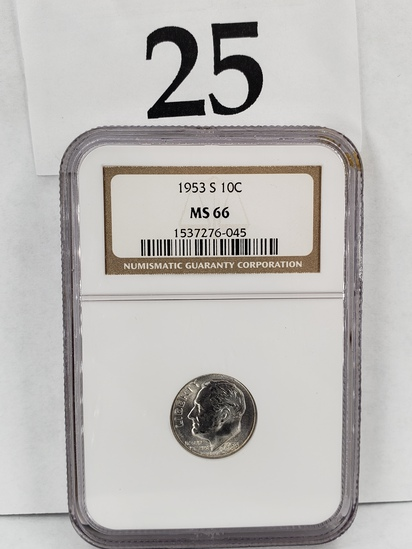 1953 NGC MS66 SILVER DIME