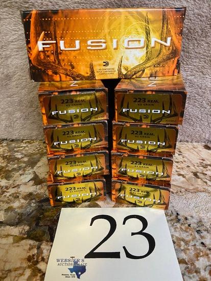 (10) BOXES FUSION 223 REM.