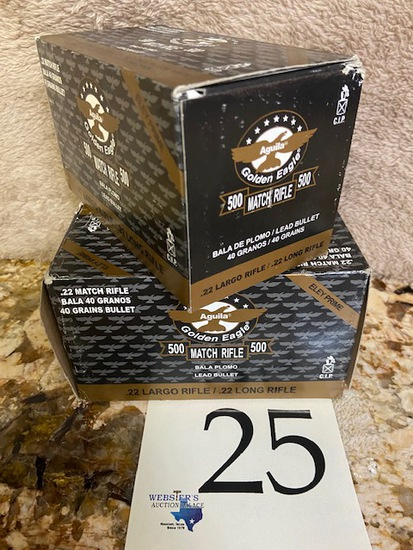 (2) BOXES AGUILA GOLDEN EAGLE .22LR