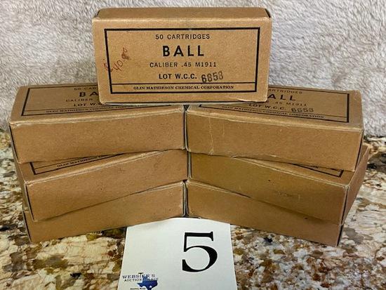 (7) BOXES BALL .45 M 1911