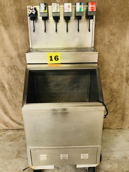 6 Valve Fountain Beverage Dispenser