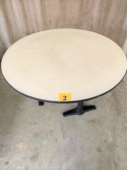 "Round Table 60"" Diameter Vinyl Edge Top"