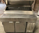 2 SECTION STAINLESS REFRIGERATED PREP STATION