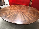 LARGE CONVERTIBLE ROUND DINING TABLE