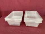 LOT OF PLASTIC LEXAN CONTAINER
