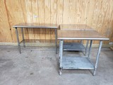 LOT OF 3 STAINLESS PREP TABLES