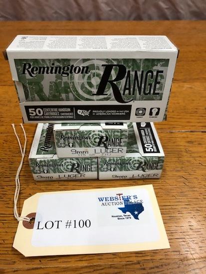 (4 ) BOXES REMINGTON 9MM LUGER