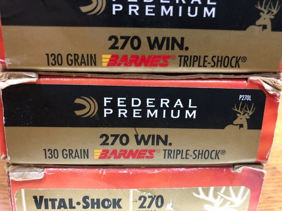 (7) BOXES FEDERAL 270 WIN