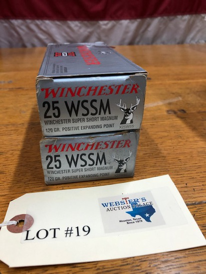 ( 2) BOXES WINCHESTER 25WSSM