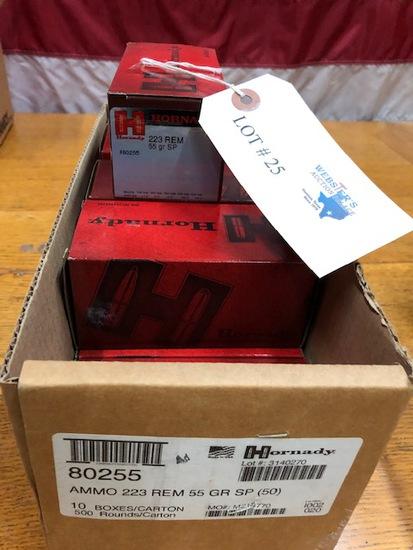 (10)  BOXES HORNADY 223REM