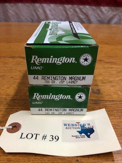 (2)  BOXES REMINGTON UMC .44 MAGNUM