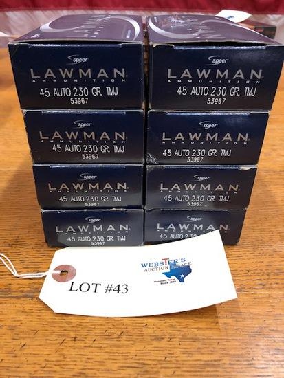 (8 ) BOXES LAWMAN  .45 AUTO