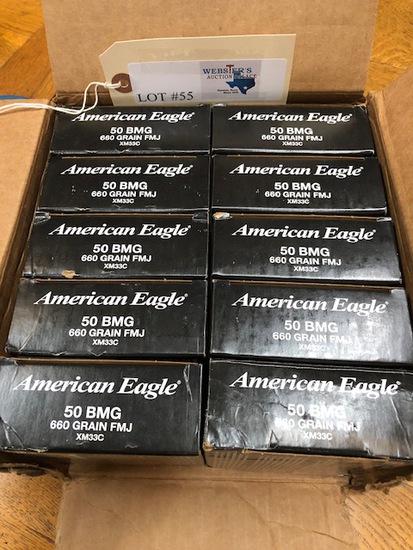 (10)   BOXES AMERICAN EAGLE XM33 50 BMG