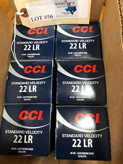 (6) BOXES CCI 22 LR