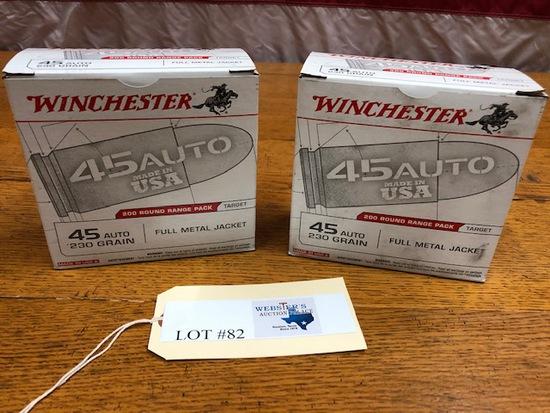 (2) BOXES WINCHESTER 45 AUTO