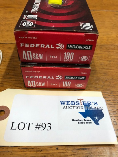 (2 ) BOXES FEDERAL .40 CAL