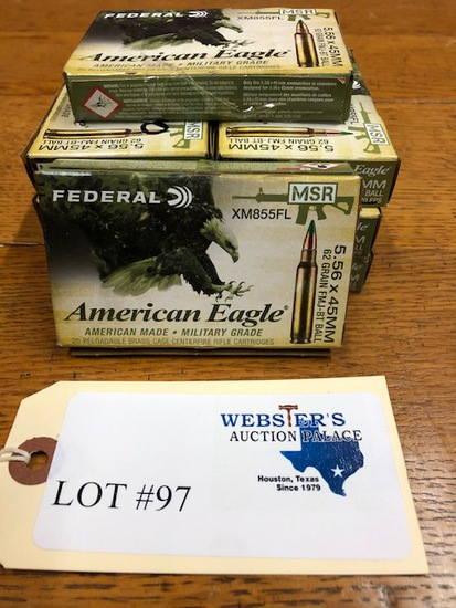 (8 ) BOXES FEDERAL 5.56X45MM