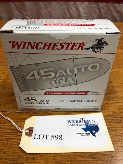 WINCHESTER 200 ROUND RANGE PACK  .45 AUTO