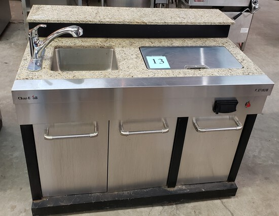 CHAR-BOIL OUTDOOR SINK WITH BUILT-IN COOLER