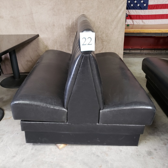 BLACK DOUBLE BOOTH BENCH