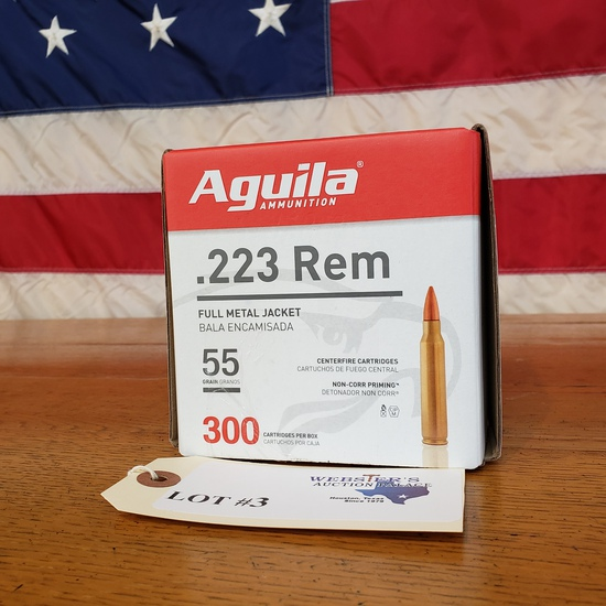 (1) BOX AGUILA AMMUNITION .223 REM