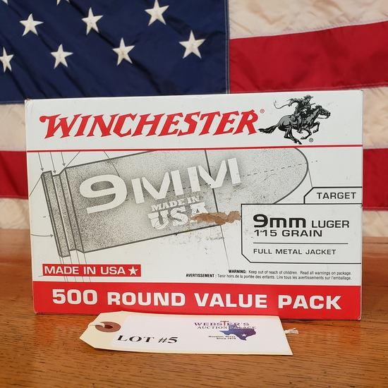 (1) BOX WINCHESTER 9MM LUGER