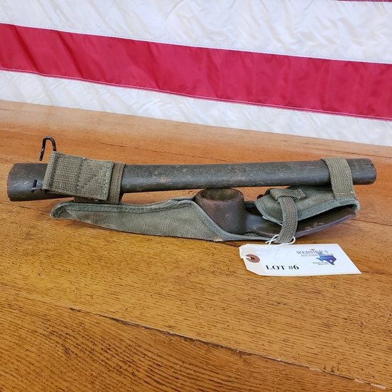 WWII PICK MATTOCK DATED 1945 PICK LENGTH 13 INCH