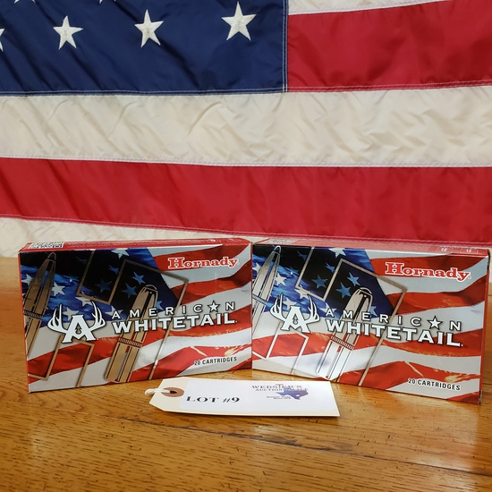 (2) BOXES HORNADY AMERICAN WHITETAIL 7MM REM MAG