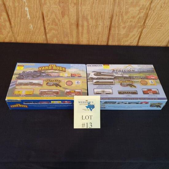 (2) BACHMANN ELECTRIC TRAIN SETS - THE YARD BOSS AND STALLION