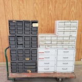 LOT OF NUT AND BOLT BINS