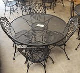 5PC OUTDOOR PATIO ROUND TABLE WITH 4 CHAIRS
