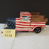 SMALL PAINTED WOOD TRUCK