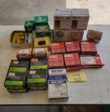 LOT OF STAPLES, FAS'NERS, SHEETING SCREWS