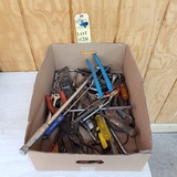 LOT OF HAND TOOLS - WRENCHES, SCREWDRIVERS, RATCHETS, SOCKETS, ETC.
