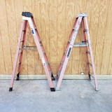 (2) WERNER AND LOUISBILLE 6' LADDERS