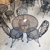 4PC OUTDOOR PATIO SET WITH ROUND TABLE