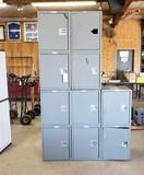 LOT OF 5 - 2 DOOR TOLLBOX / STORAGE LOCKERS