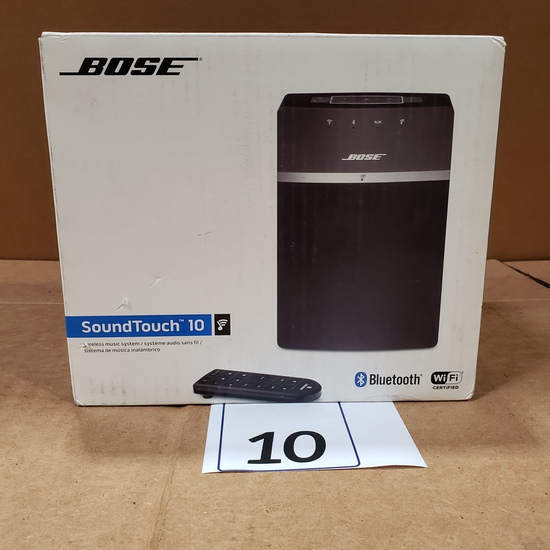 BOSE BLUETOOTH WIFI SOUNDTOUCH 10 MUSIC SYSTEM WITH REMOTE RETAIL $260.00