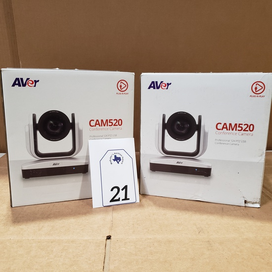 (2) AVER CAM 520 CONFERENCE CAMERAS RETAIL $995 EACH