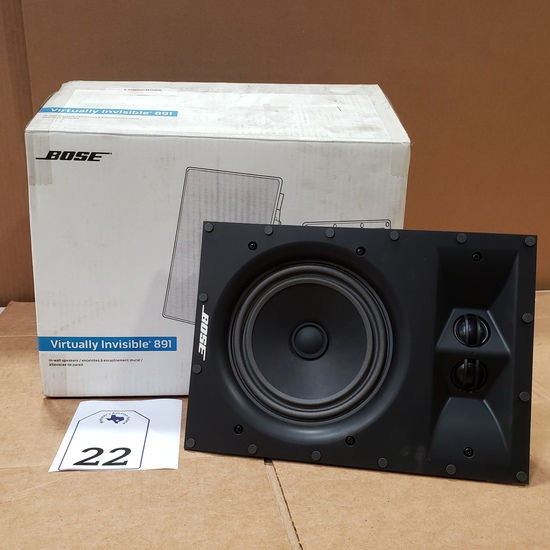 PAIR BOSE VIRTUALLY INVISIBLE 891 SPEAKERS RETAIL $599