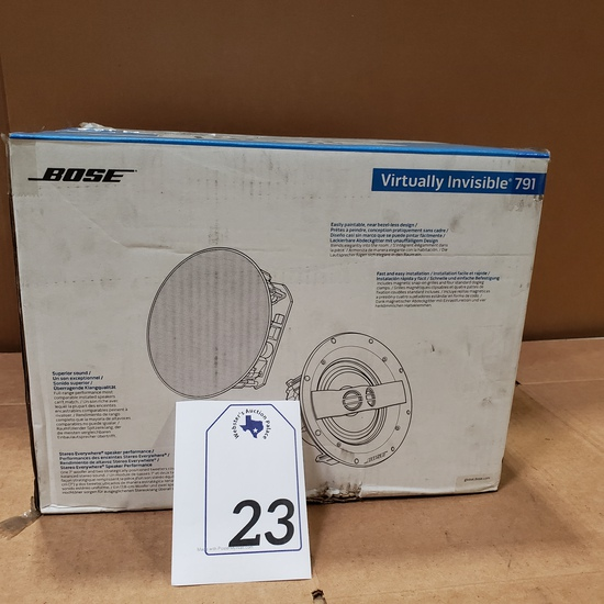 PAIR BOSE VIRTUALLY INVISIBLE 791 SPEAKERS RETAIL $599